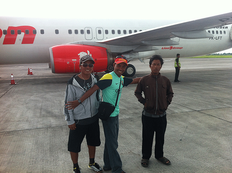 Take off from Lombok